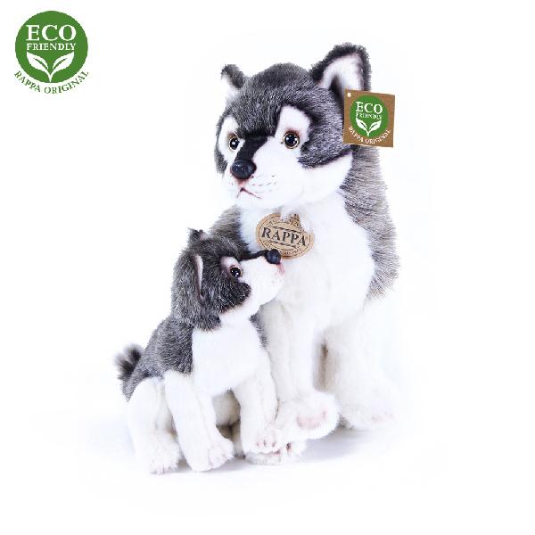 Plyšový vlk s mládětem 27cm ECO-FRIENDLY