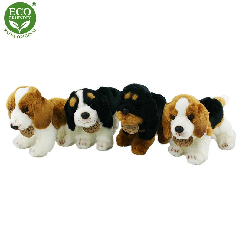 Plyšový pes stojící 16 cm 4 druhy ECO-FRIENDLY