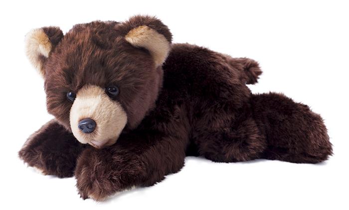 Plyšový medvěd ležící 32 cm ECO-FRIENDLY