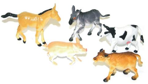 Zvířata domácí I. 5 ks v sáčku