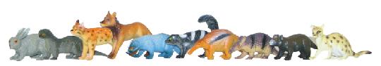 Zvířata lesní 10 ks v sáčku