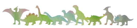 Dinosauři svítí ve tmě 9 ks v sáčku