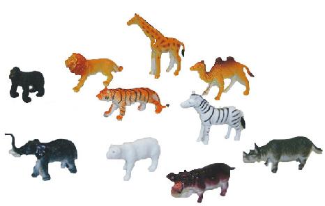 Zvířata divoká 10 ks v sáčku