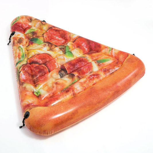 Nafukovací lehátko pizza 160 x 137 cm