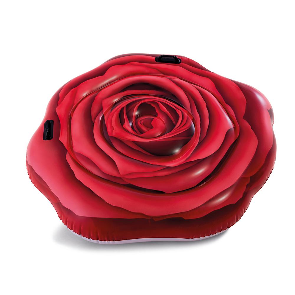 Nafukovací lehátko Rudá růže 137 x 132 cm