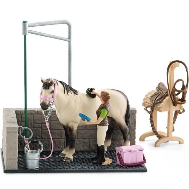 Schleich - Kout mycí pro koně s přísl.