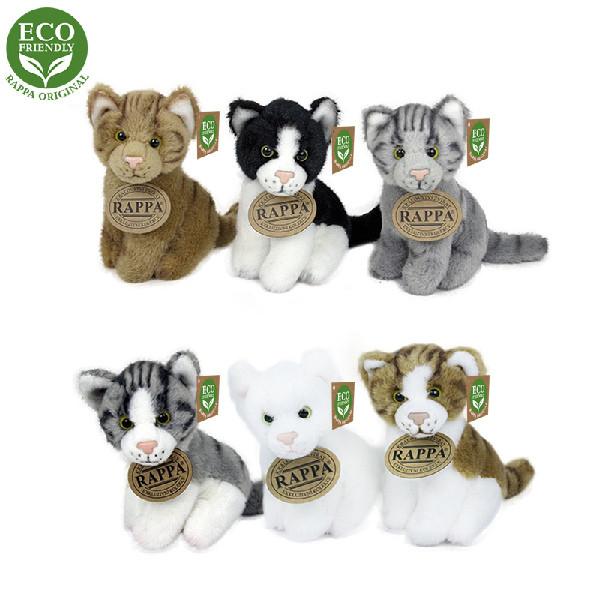 Plyšová kočka 11 cm sedící 6 druhů ECO-FRIENDLY