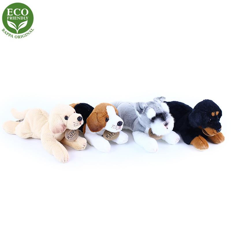 Plyšový pes ležící 16 cm ECO-FRIENDLY