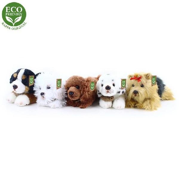 Plyšový pes ležící 5 druhů 17 cm ECO-FRIENDLY