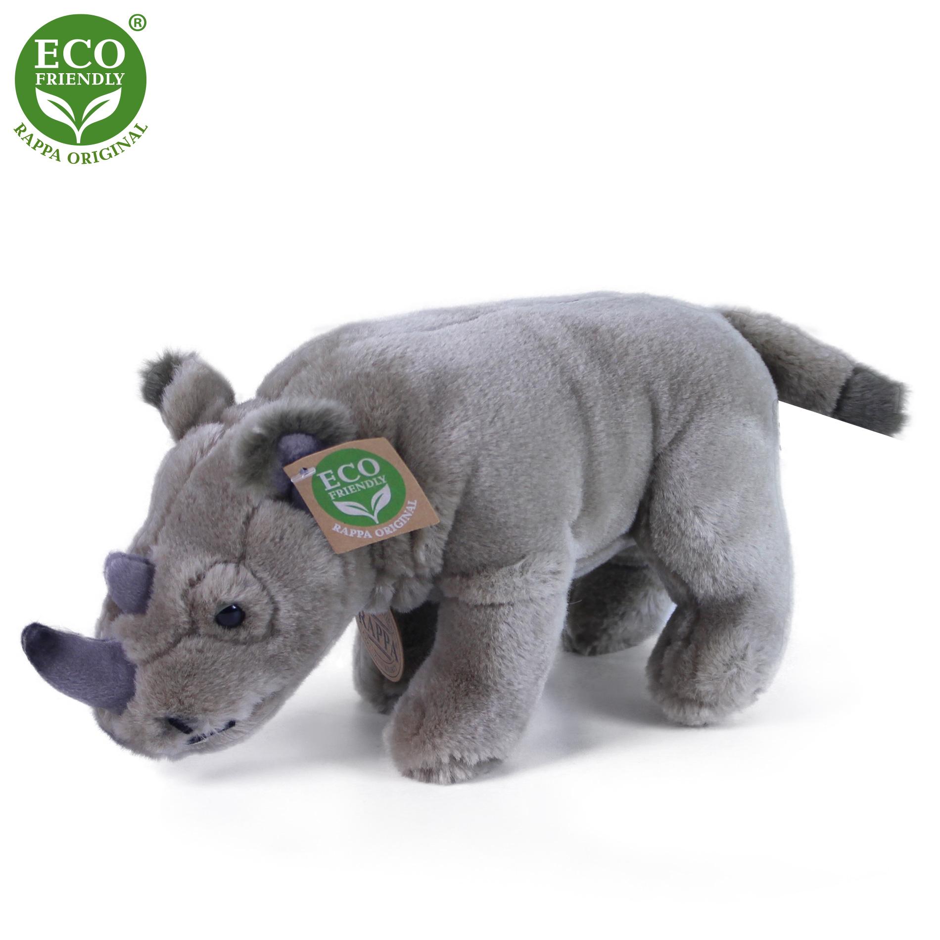 plyšový nosorožec stojící 23 cm