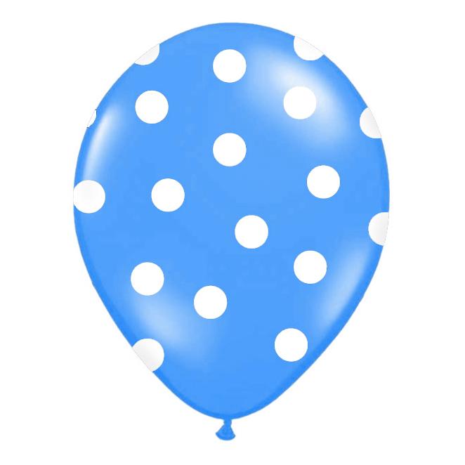 Nafukovací balónek s potiskem modrý 30 cm