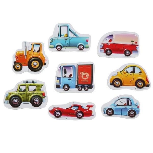 Dopravní prostředky - puzzle 8 dopravních prostřed