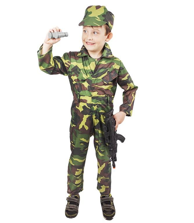 Dětský kostým voják Woodland (M)