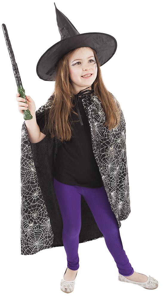 Dětský plášť s kloboukem čarodějnice/Halloween