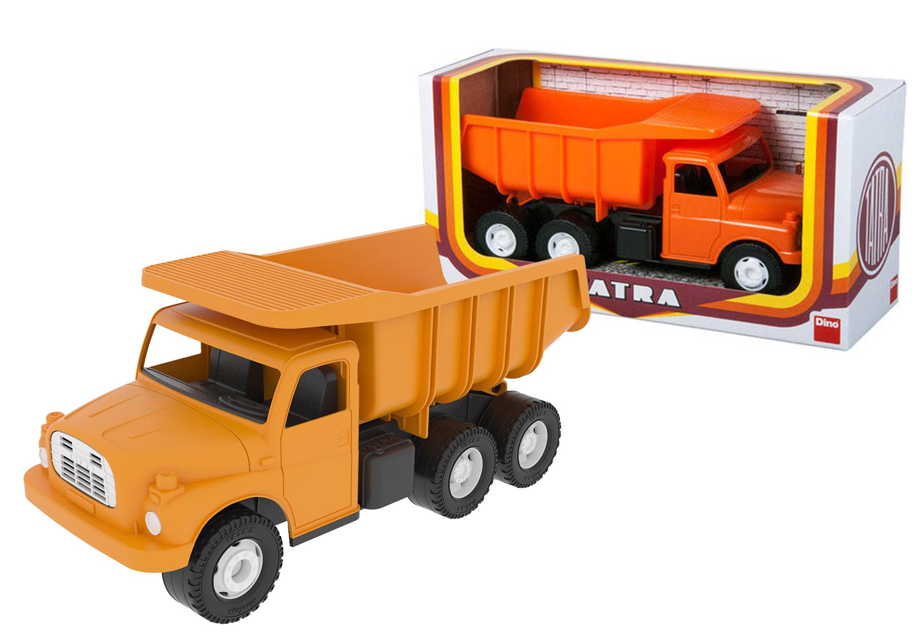 Auto Tatra 148 oranžová plastová 30cm