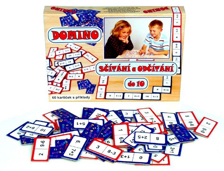 Hra Domino - sčítání a odčítání do 10