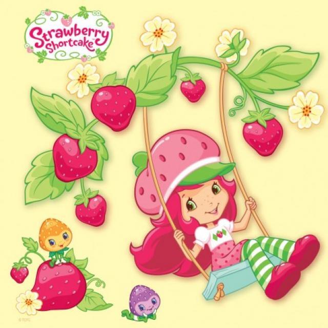 Omalovánka  čtvercová Strawberry