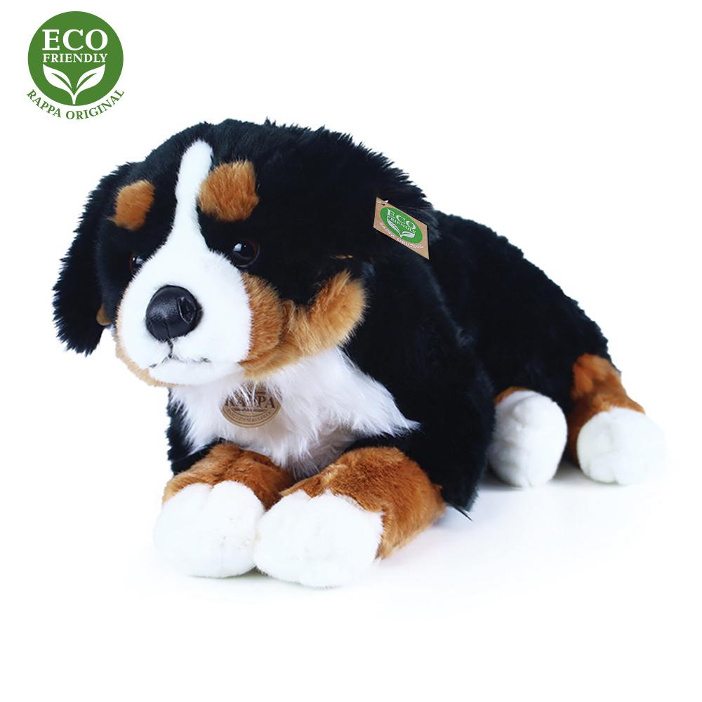 Velký plyšový bernský salašnický pes ležící 61 cm