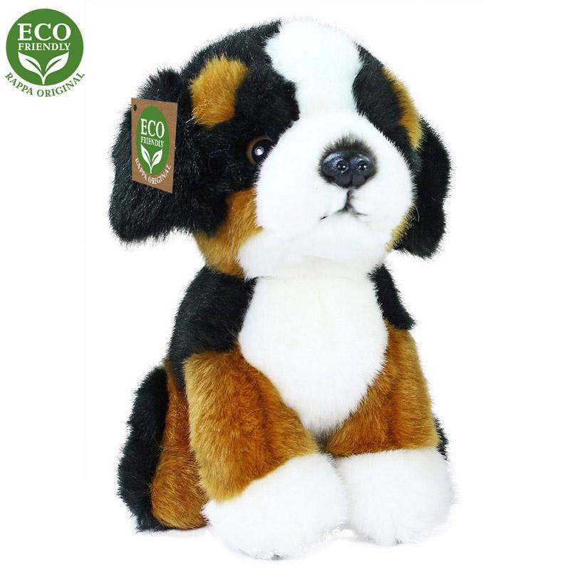 Plyšový bernský salašnický pes sedící 18 cm ECO-FR