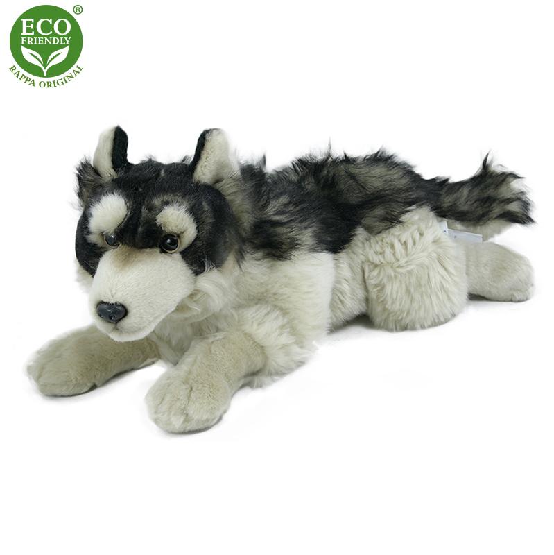 Plyšový vlk ležící 35 cm ECO-FRIENDLY