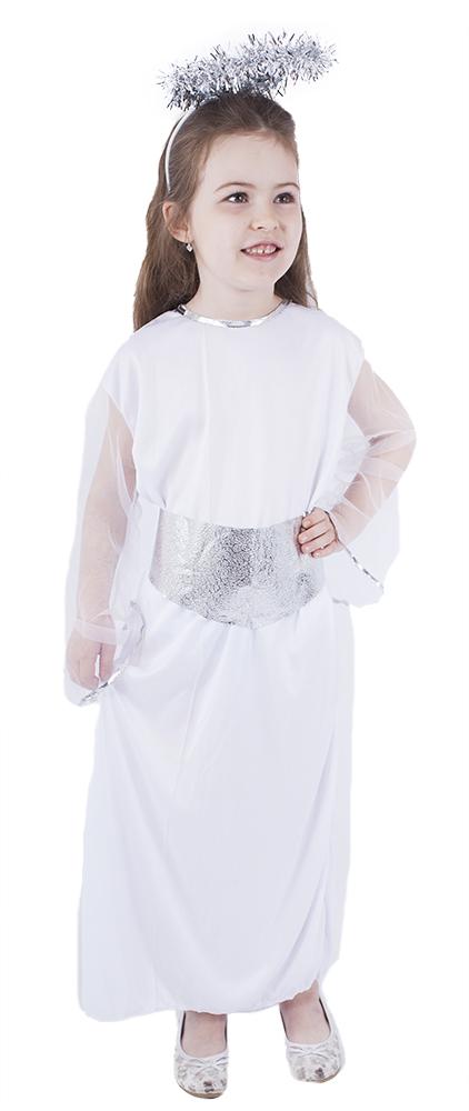 Dětský kostým anděl se svatozáří a páskem (M)