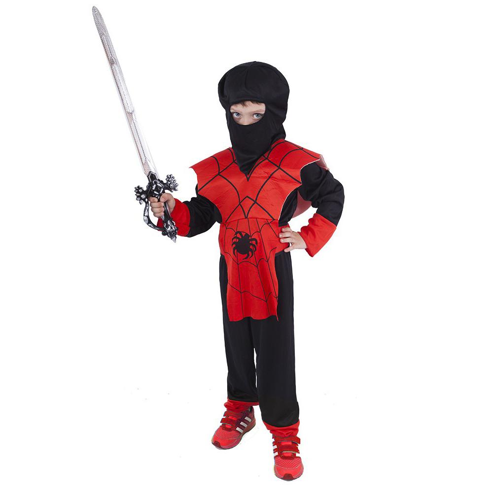 Dětský kostým červený ninja (S)
