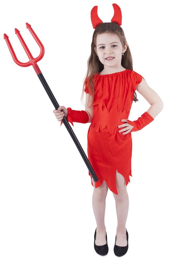 Dětský kostým čertice s rohy (M)