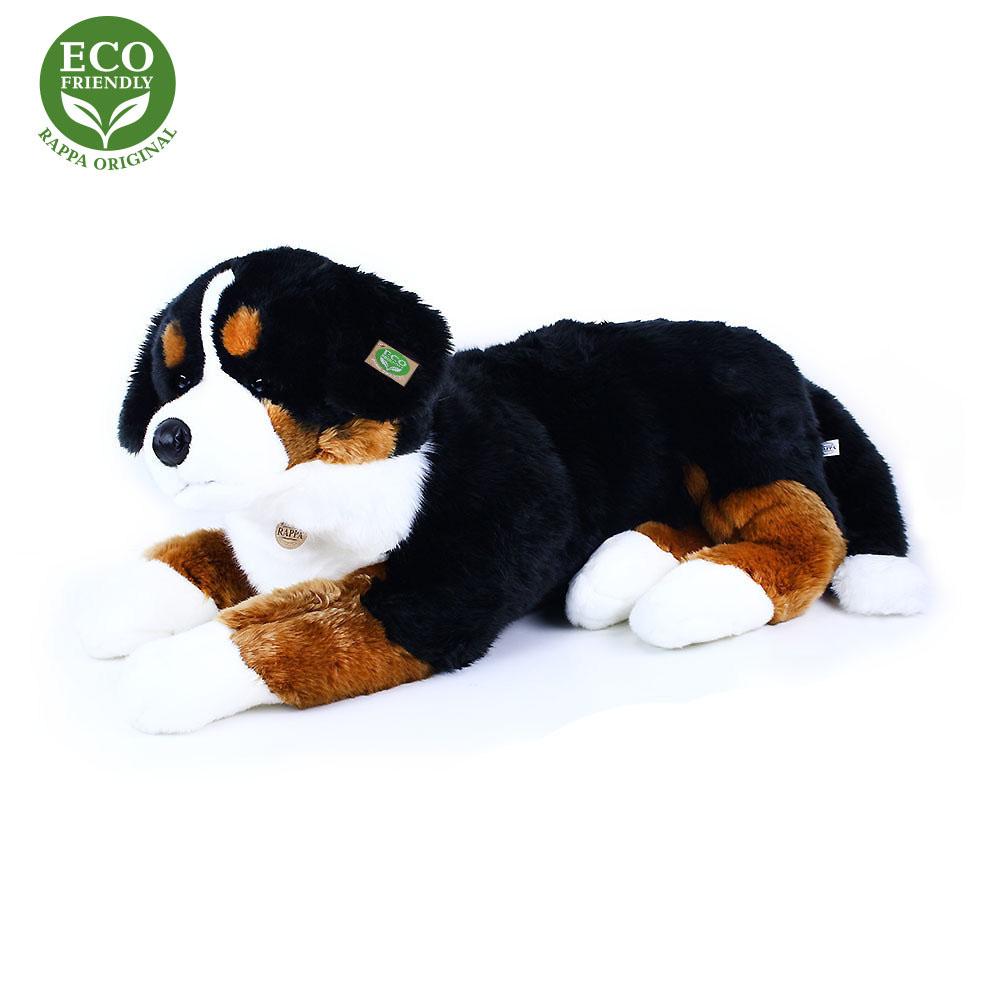Velký plyšový bernský salašnický pes ležící 89 cm