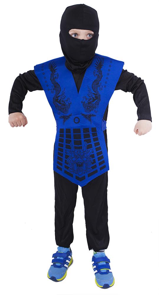 Dětský kostým modrý ninja (M)