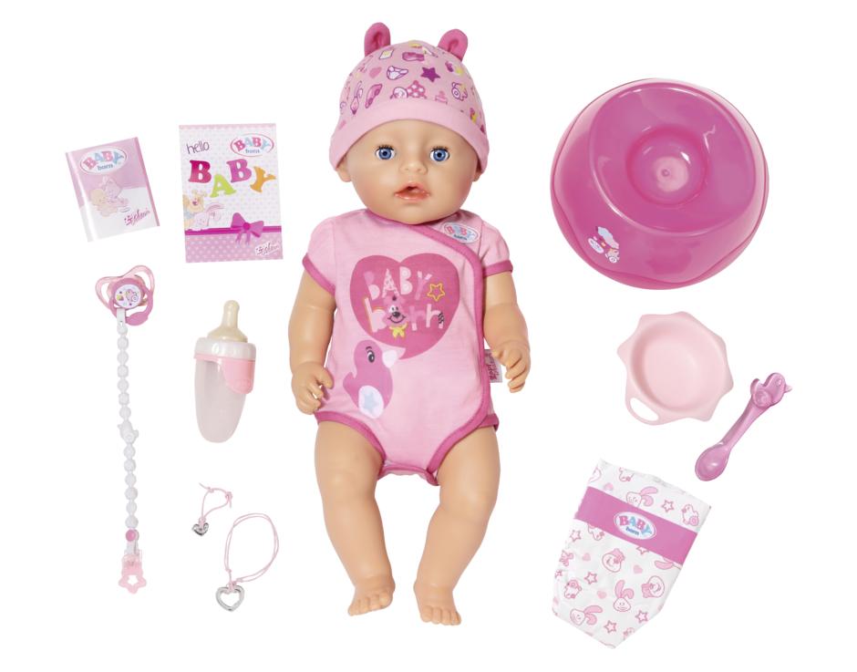 panenka BABY born, holčička 43cm