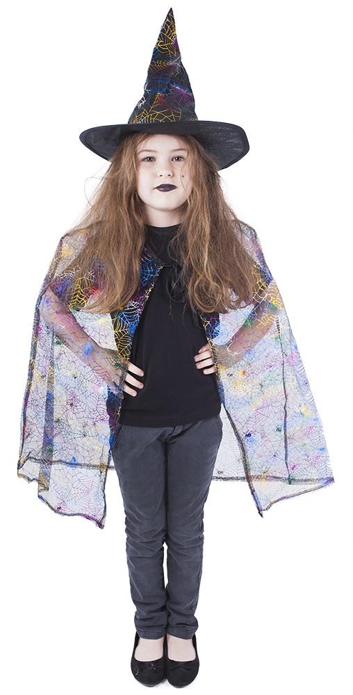 Dětský plášť čarodějnice s kloboukem/Halloween