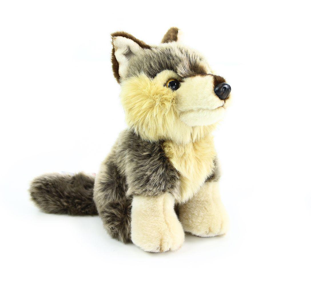 Plyšový vlk sedící 30 cm ECO-FRIENDLY