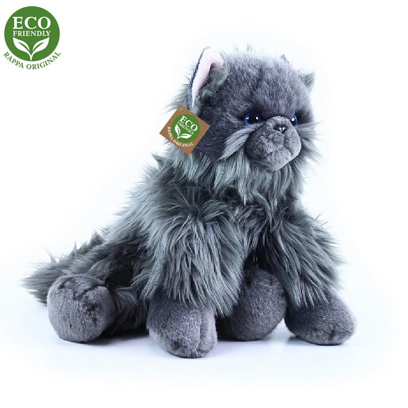 Plyšová kočka britská sedící 30 cm ECO-FRIENDLY