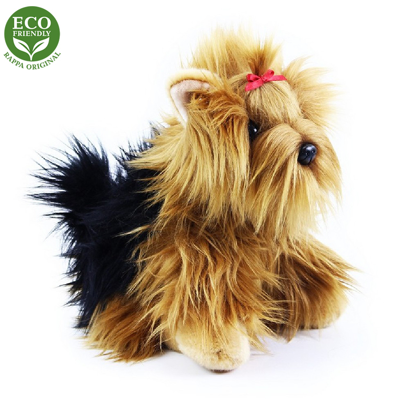 Plyšový pes jorkšír sedící 27 cm ECO-FRIENDLY