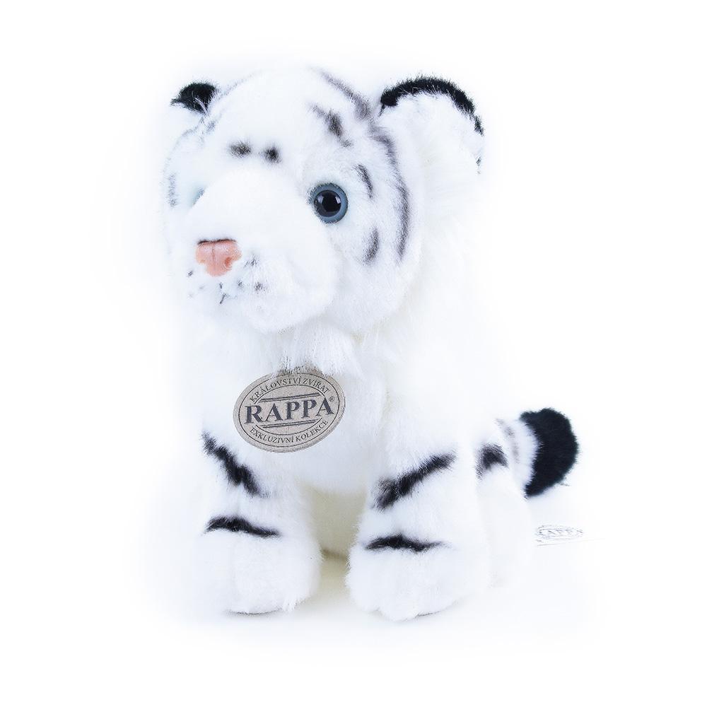 Plyšový tygr bílý sedící 18 cm ECO-FRIENDLY
