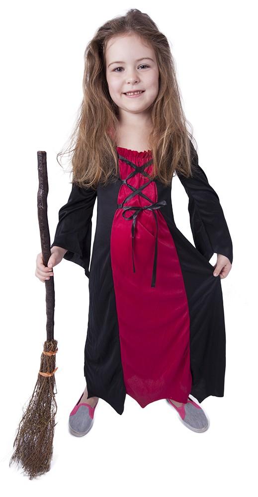 Dětský kostým bordó čarodějnice / Halloween (M)