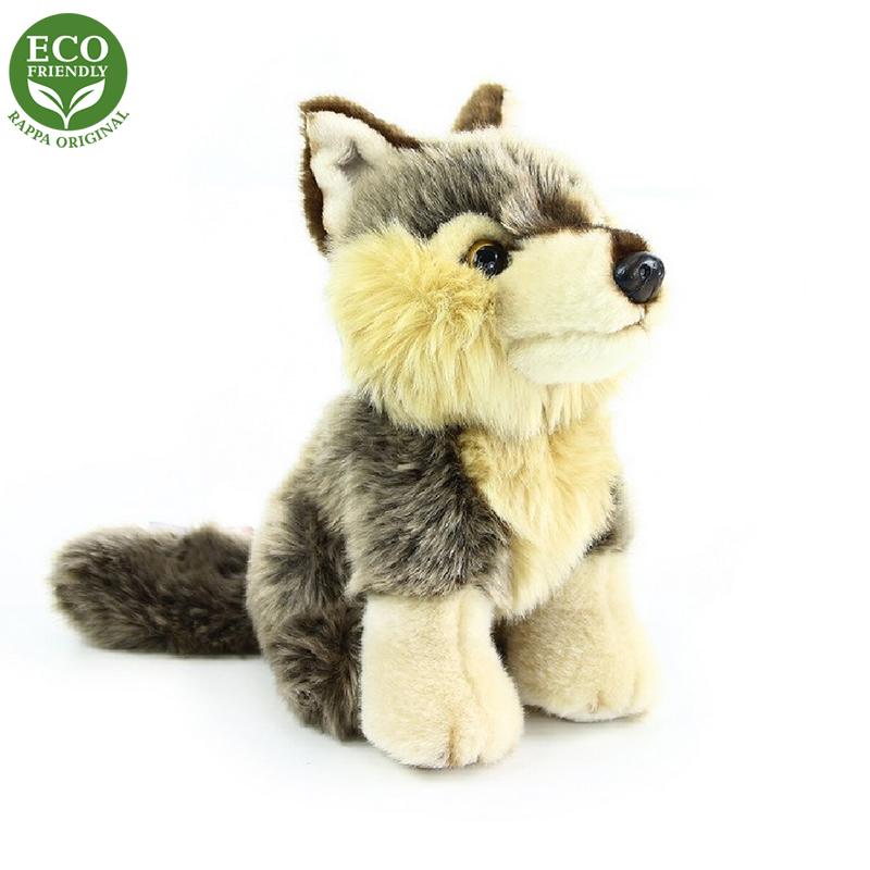 Plyšový vlk sedící 18 cm ECO-FRIENDLY