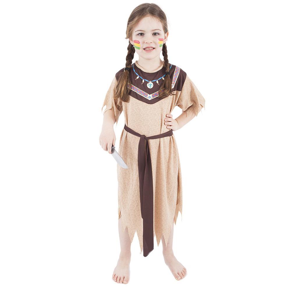 Dětský kostým Indiánka s páskem (S)