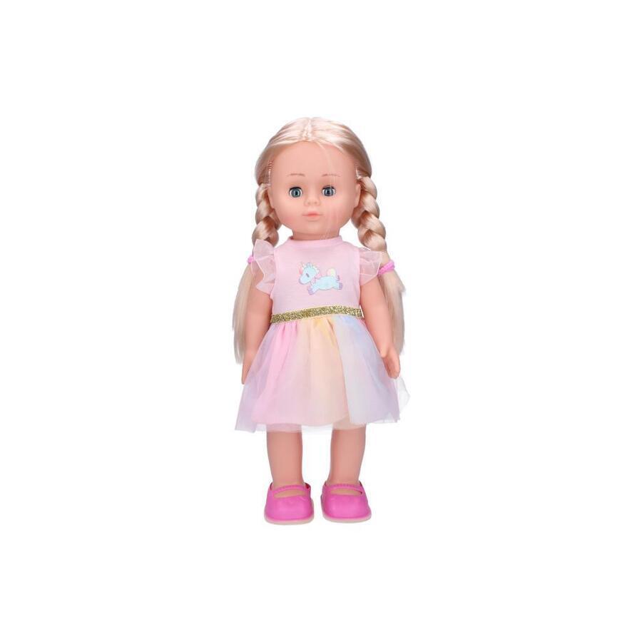 Panenka Eliška chodící 41cm růžové šaty