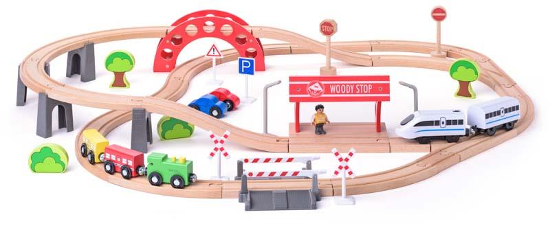 Vláčkodráha s elektrickou mašinkou a viaduktem 60