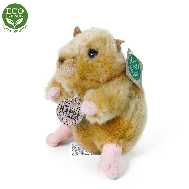Plyšový křeček zlatý 16 cm ECO-FRIENDLY